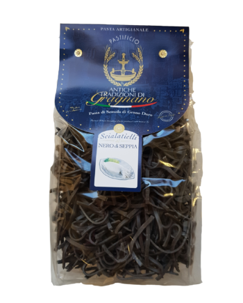 Scialatielli Nero di Seppia, pasta di Gragnano| Caffè di pulcinella | Prodotti